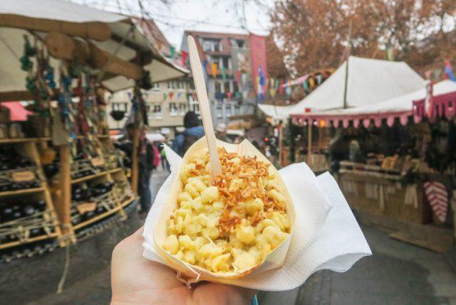 Weihnachtsmarkt Stuttgart Tipps Esslinger Weihnachtsmarkt Hafenmarkt Mittelalter Kässspätzle