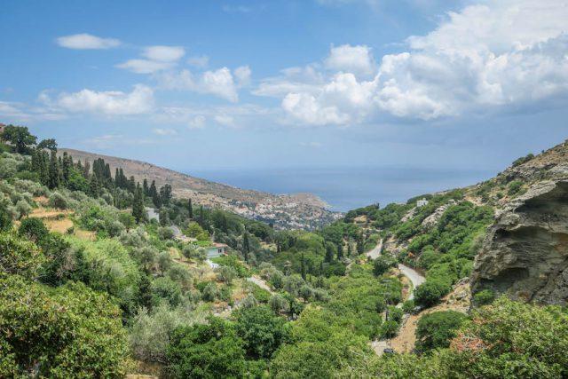 Griechenland Urlaub-griechische Inseln-Andros Landschaft