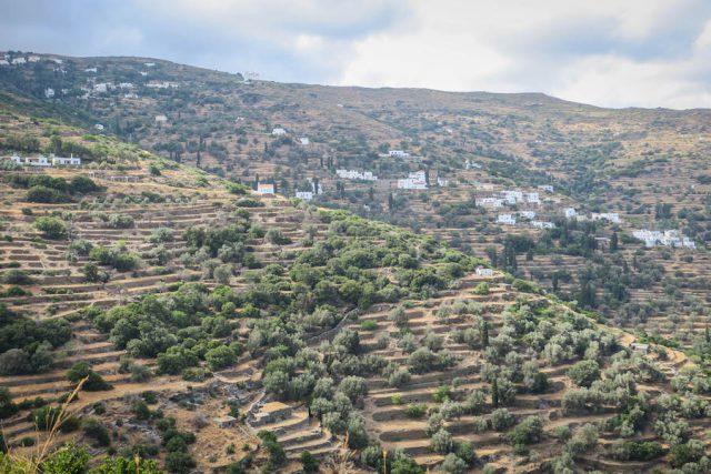 Griechenland Urlaub-griechische Inseln-Andros Terrassen