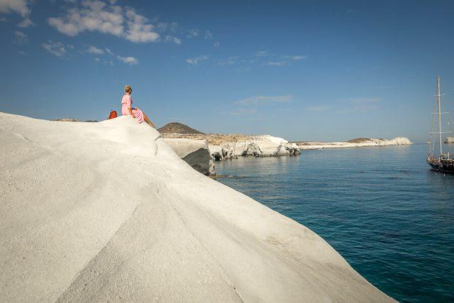 Griechenland Urlaub-griechische Inseln-Milos Sarakiniko