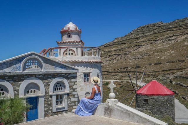 Griechenland Urlaub-griechische Inseln-Tinos Windmuehle