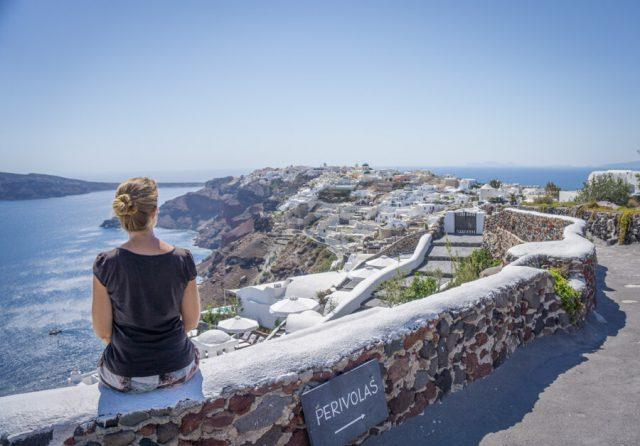 Griechische Inseln Santorini Ausblick Oia