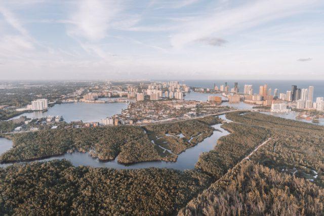 Miami Beach Sehenswuerdigkeiten Urlaub Helikopter Rundflug