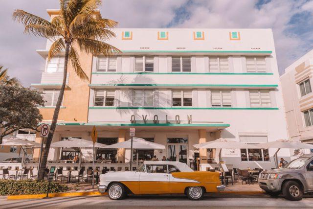 Miami Beach Sehenswuerdigkeiten Urlaub Ocean Drive Avalon Hotel