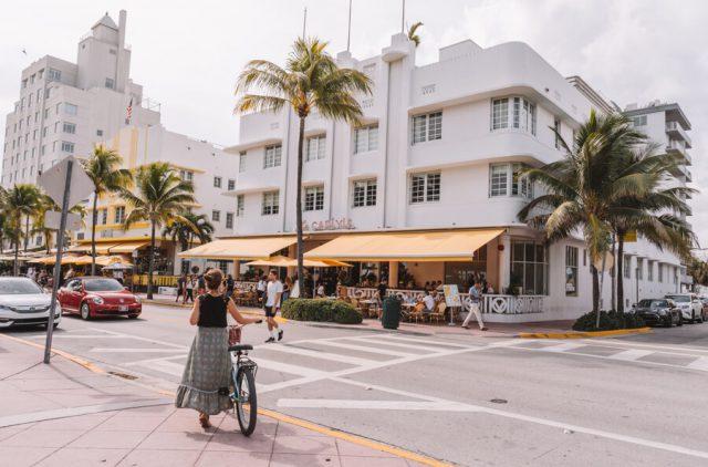 Miami Beach Sehenswuerdigkeiten Urlaub Ocean Drive Fahrradverleih
