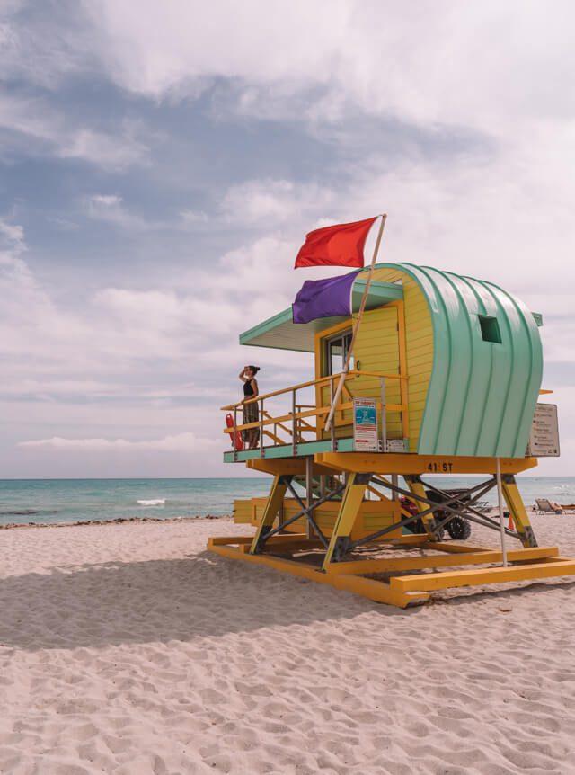Miami Beach Sehenswuerdigkeiten Urlaub South Beach Lifeguard Haus