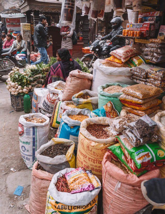 Nepal Reisen Kathmandu Asan Tole Market