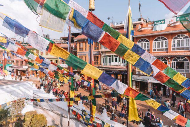 Nepal Reisen Kathmandu Bodnath Stupa