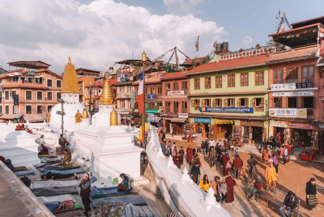 Nepal Reisen Kathmandu Bodnath Stupa-2