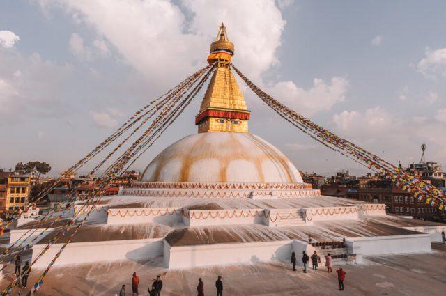 Nepal Reisen Kathmandu Bodnath Stupa-3