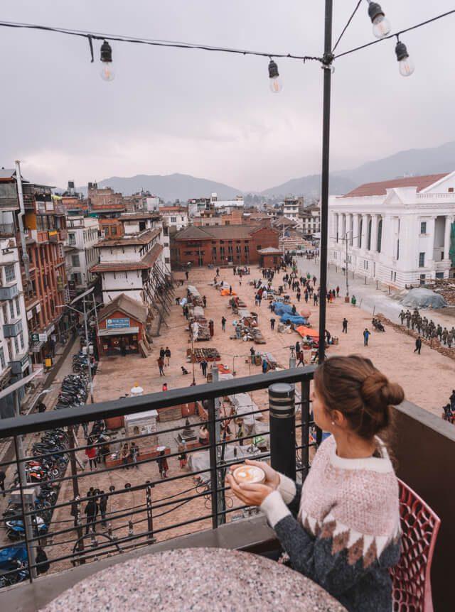 Nepal Reisen Kathmandu Durbar Square Bento Cafe
