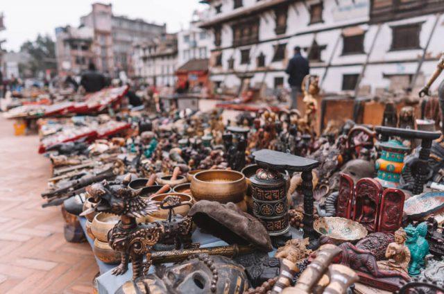 Nepal Reisen Kathmandu Durbar Square Markt