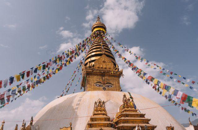 Nepal Reisen Kathmandu Swayambunath Affentempel-2