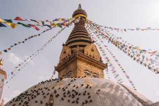 Nepal Reisen Kathmandu Swayambunath Affentempel-3