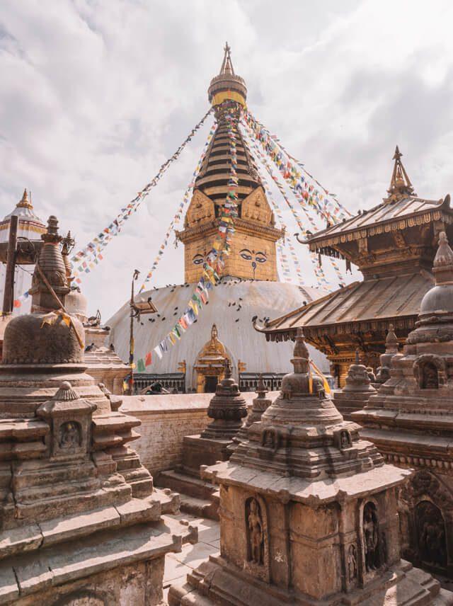 Nepal Reisen Kathmandu Swayambunath Affentempel-4