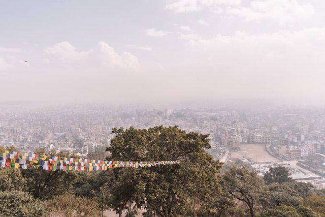 Nepal Reisen Kathmandu Swayambunath Affentempel Aussicht