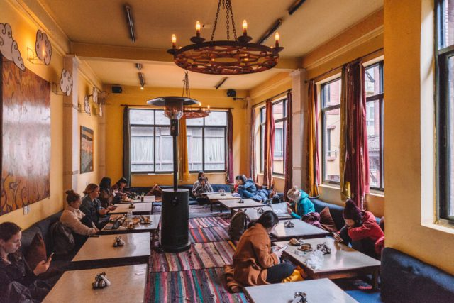 Nepal Reisen Kathmandu Thamel Restaurant