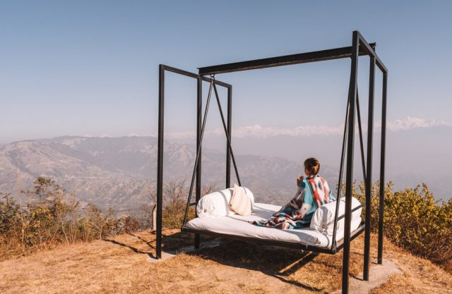 Dhulikhel Dwarikas Resort Nepal Himalaya Aussicht