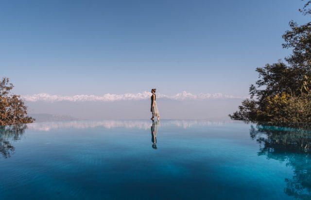 Dhulikhel Dwarikas Resort Nepal Pool Himalaya