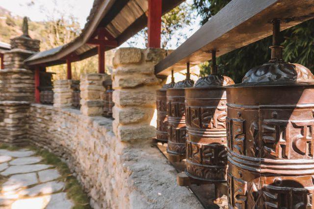 Highlights Nepal Pokhara Fewa See The Pavilions Himalayas Gebetsmühlen