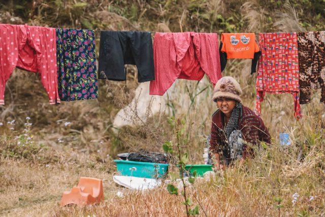 Highlights Nepal Pokhara Fewa See Dorfbewohner