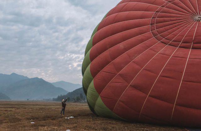 Highlights Nepal Pokhara Fewa See Ballonfahrt