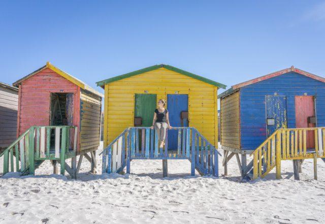 Kap der Guten Hoffnung Muizenberg bunte Strandhuetten