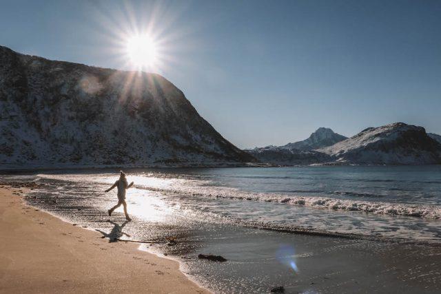 Haukland Beach Lofoten Urlaub