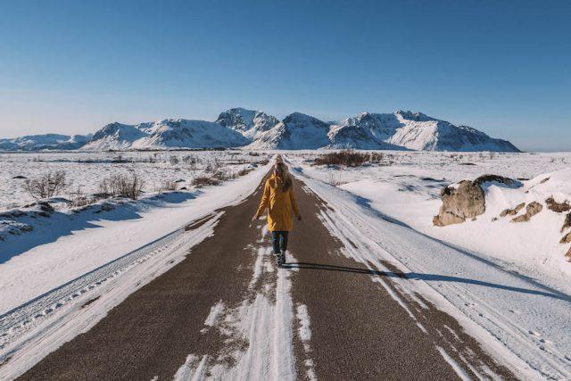Lofoten Urlaub Norwegen Strasse