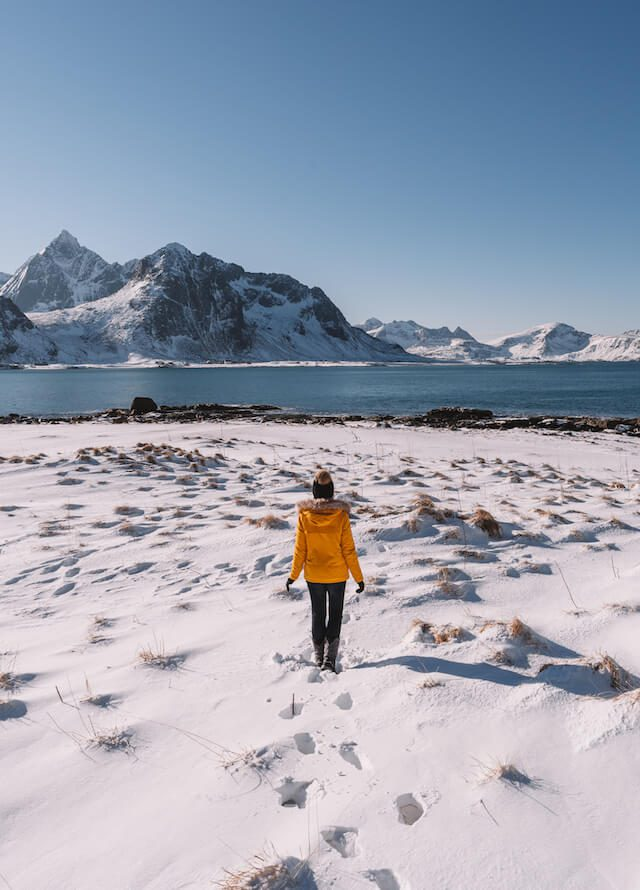 Winter Lofoten Norwegen