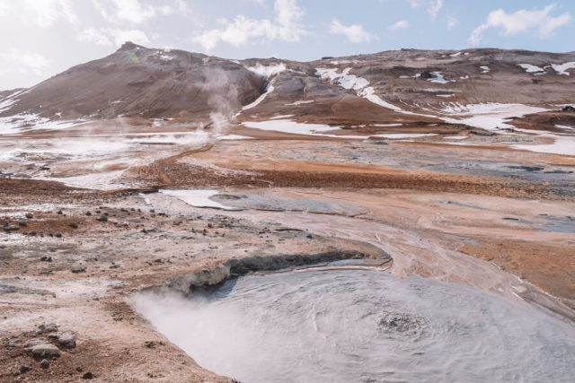 Island Myvatn Hverir Hochtemperaturgebiet