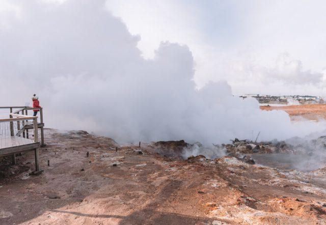 Reykjanesskagi Hochtemperaturgebiet Dampf