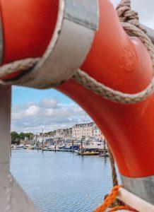 Stornoway Hafen Rettungsring