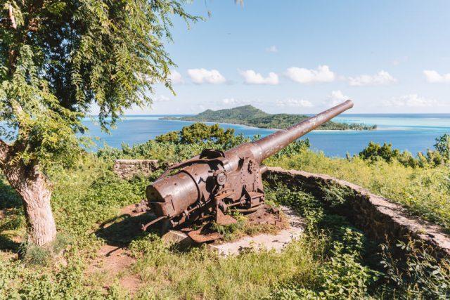 Bora Bora Jeeptour Kanonen