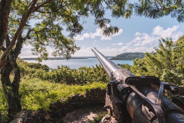 Bora Bora Urlaub Jeeptour Kanonen