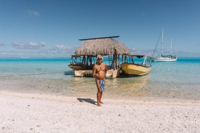 Bora Bora Urlaub Motu Picknick