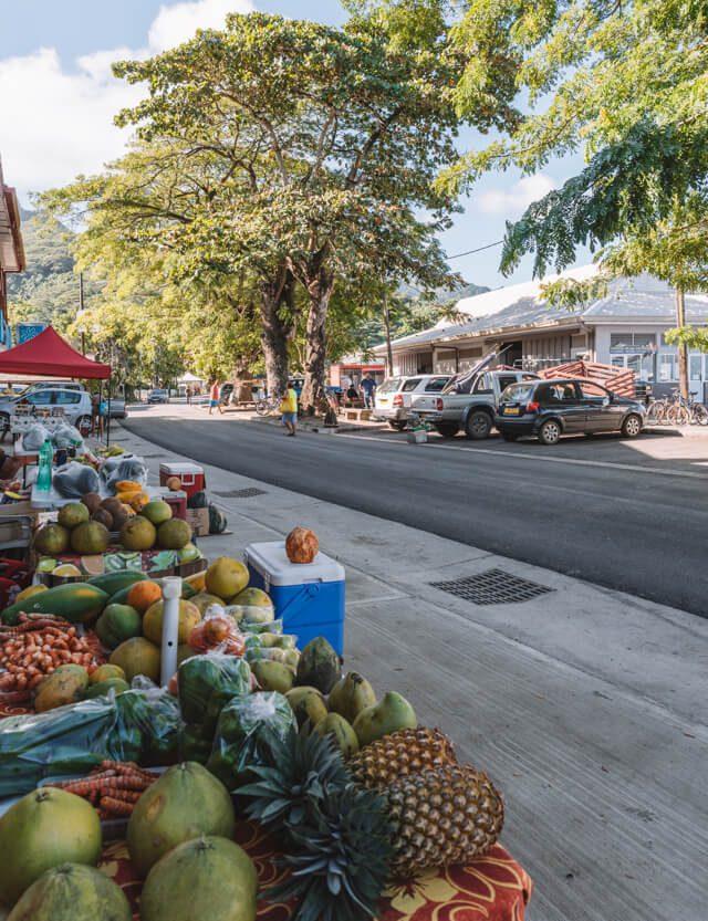 Huahine Fare Village Markt