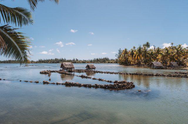 Huahine Fischfallen Franzoesisch Polynesien