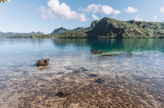 Huahine Rochen Lagune