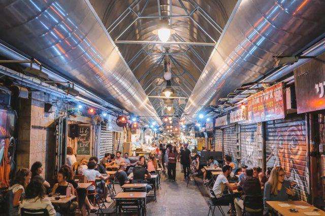 Jerusalem Sehenswuerdigkeiten Machane Yehuda Markt nachts