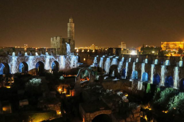 Jerusalem Sehenswuerdigkeiten Tower of David Lichtshow