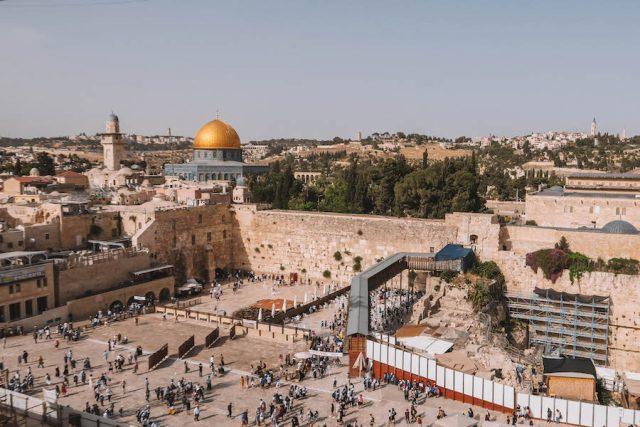 Jerusalem Sehenswuerdigkeiten von oben