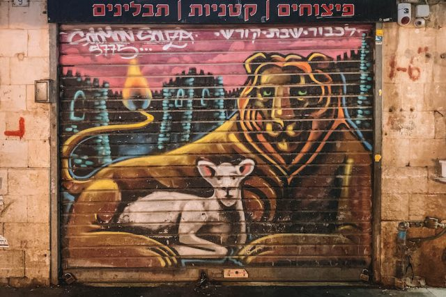 Jerusalem Streetart Machane Yedua Markt