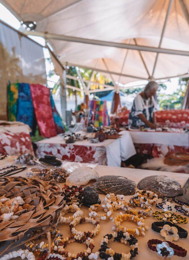 Papeete Hafen Kunsthandwerksmarkt