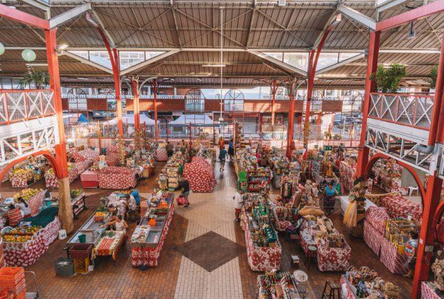 Papeete Suedsee Markt Kunsthandwerk