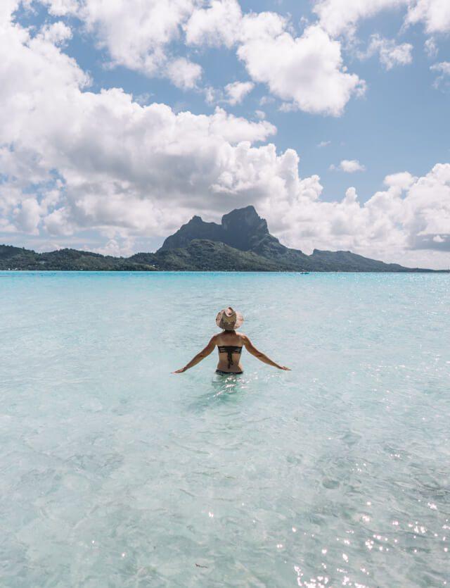 Suedsee Traum Bora Bora Urlaub Lagune