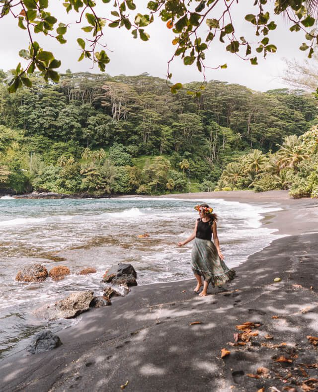 Tahiti Urlaub Arahoho Blowhole Strand-2
