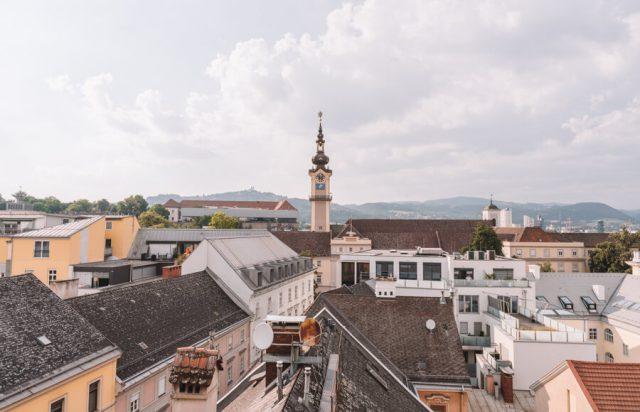 Linz Hotel Schwarzer Baer Aussicht Herrenstrasse