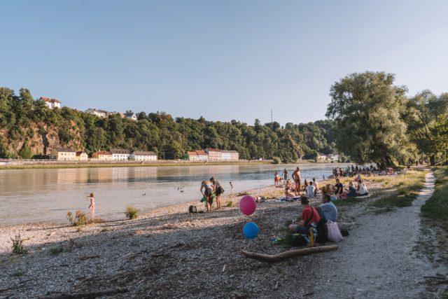 Linz Oesterreich Alt Urfahr Donaustrand