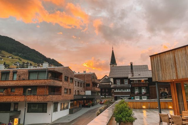 Sporthotel Silvretta Montafon Sonnenuntergang